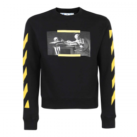 OFF WHITE CARRAVAGGIO PAINTING SWEATER IN BLACK