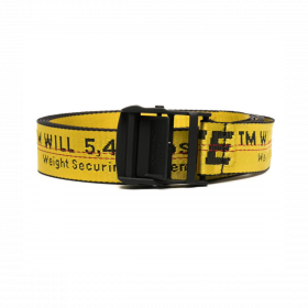 OFF-WHITE LOGO TAPE ADJUSTABLE-FIT BELT IN YELLOW