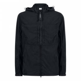 CP COMPANY CHROME-R DETACHABLE GOGGLE OVERSHIRT IN BLACK