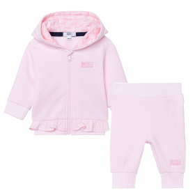 BOSS BABY PALE PINK 3 PIECE TRACKSUIT SET