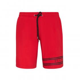 PHILLIP PLEIN BEACHWEAR SHORTS IN RED