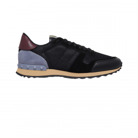 VALENTINO MESH ROCKRUNNER TRAINERS IN BLACK