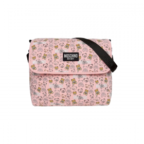 MOSCHINO TEDDY BEAR BABY BAG IN BABY PINK