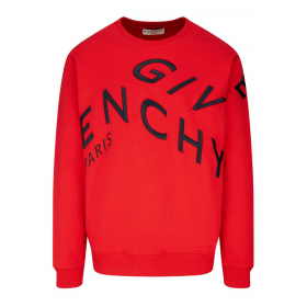 GIVENCHY REFRACTED LOGO SWEATER IN RED