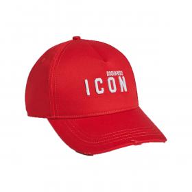 DSQUARED2 MINI ICON LOGO CAP IN RED
