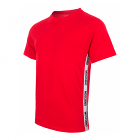 MOSCHINO SIDE TAPE T-SHIRT IN RED