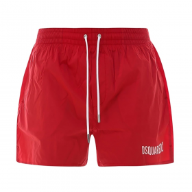 DSQUARED2 ICON SWIM SHORTS IN RED