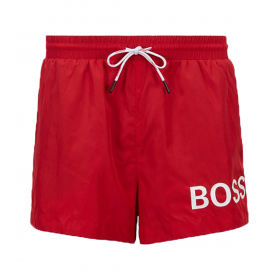 BOSS 'MOONEYE' SHORT LENGHT SHORTS IN RED