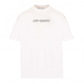 OFF-WHITE PASCAL S/S OVER TEE WHITE NUDE