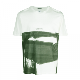 CP COMPANY TRACERY CREW T-SHIRT IN GREEN