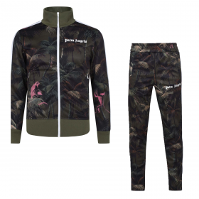 PALM ANGELS JUNGLE TRACKSUIT IN GREEN