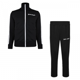 PALM ANGELS CLASSIC FUNNEL ZIP TRACKSUIT IN BLACK