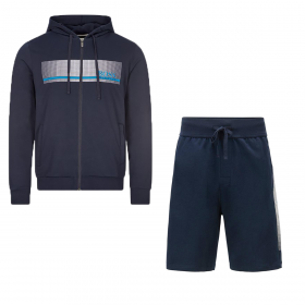 BOSS 'AUTHENTIC H' SHORT TRACK SET IN NAVY