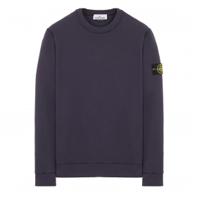 STONE ISLAND BRUSHED COTTON SWEATER IN INK BLUE