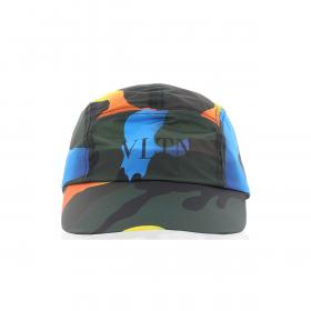 VALENTINO CAMOUFLAGE VLTN PRINT SHELL CAP