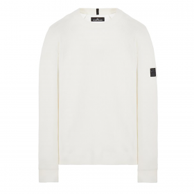 STONE ISLAND SHADOW PROJECT WOOL JUMPER IN WHITE