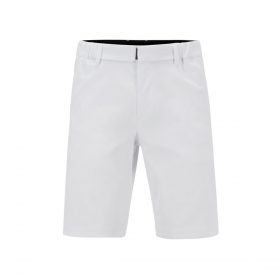 BOSS SLIM-FIT COTTON SHORTS IN WHITE