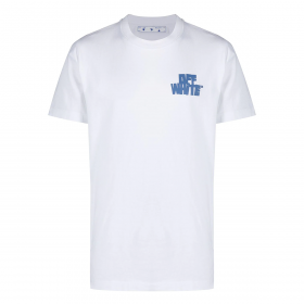 OFF-WHITE HANDS ARROWS S/S OVER TEE WHITE LIGHT BLUE