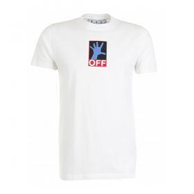 OFF-WHITE 90'S HAND SLIM FIT T-SHIRT IN WHITE
