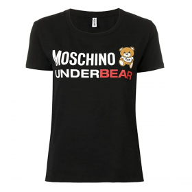 MOSCHINO WOMANS UNDERBEAR T-SHIRT IN BLACK