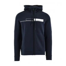 BOSS 'SAGGY 1' TRACKSUIT TOP IN NAVY BLUE